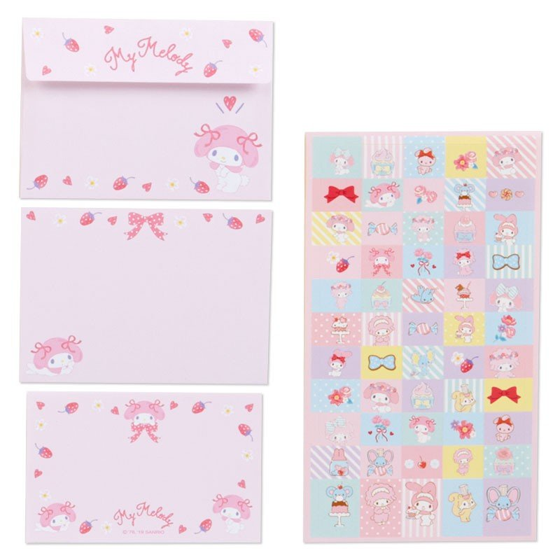 My Melody Volume Letter Set Sanrio Japan 2019