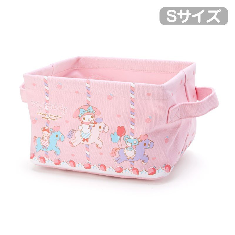 My Melody Canvas Storage Box S Sanrio Japan