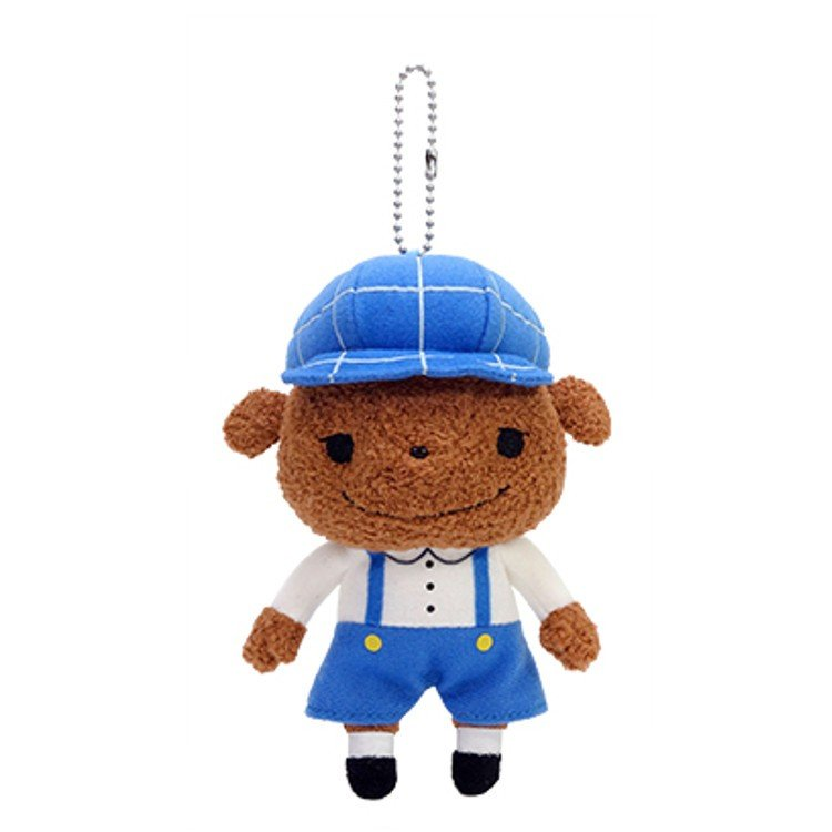 Brown Plush Keychain Oshiritantei Butt Detective Japan