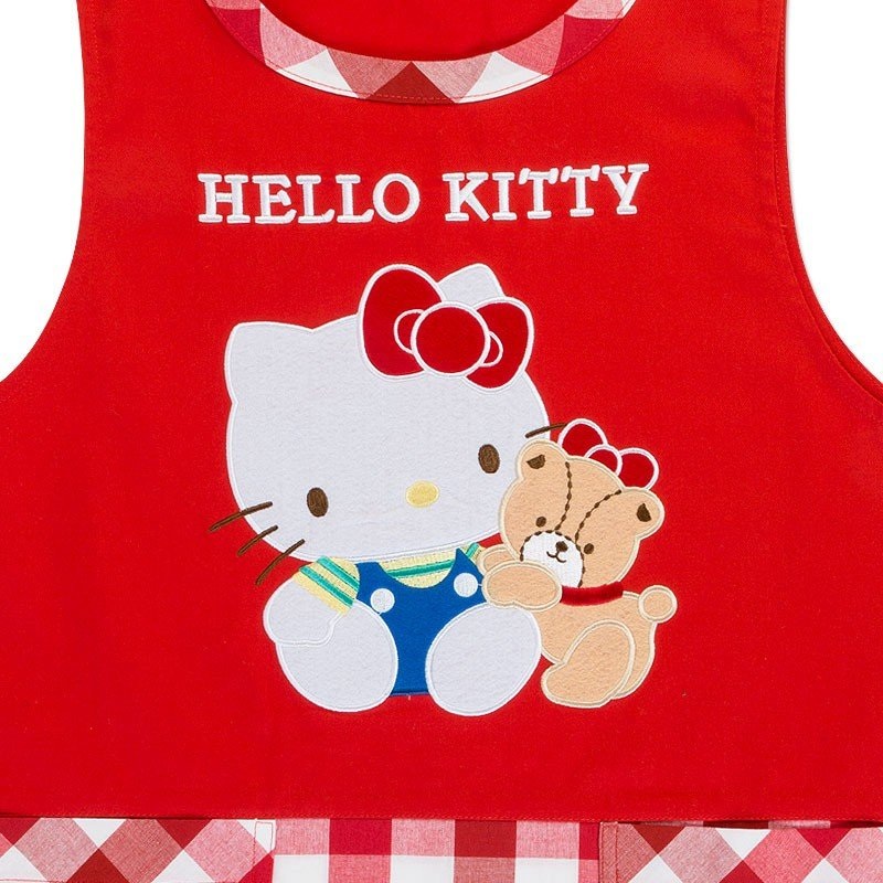 Hello Kitty Apron Plaid Sanrio Japan