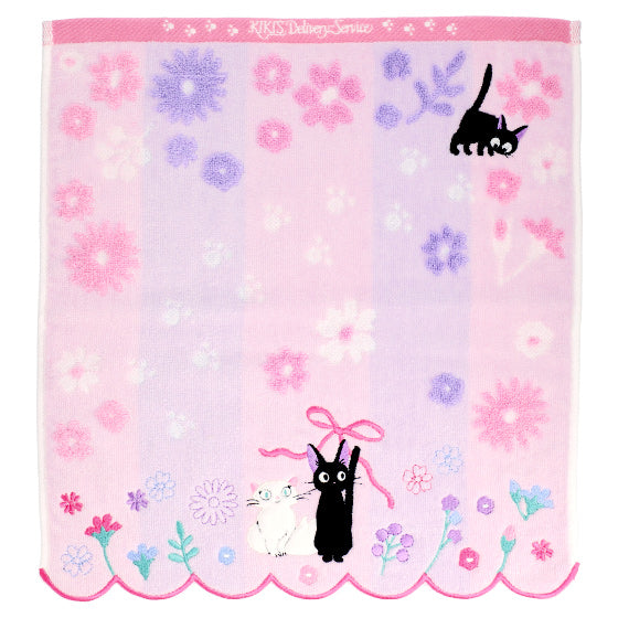 Kiki's Delivery Service Jiji Hand Towel Flower Lane Studio Ghibli Japan