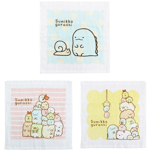 Sumikko Gurashi Hand Towel SMG2421 3pcs Set San-X Japan