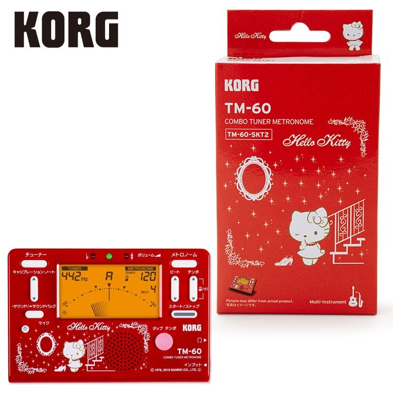 Hello Kitty KORG Tuner Metronome Red Sanrio Japan