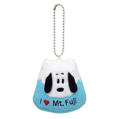 Snoopy Plush Keychain Mount Fuji PEANUTS Japan