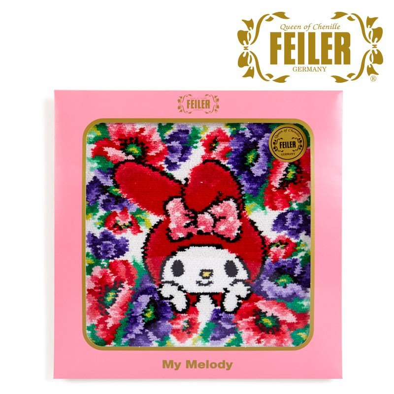 My Melody Towel Poppy FEILER Chenille fabric Sanrio Japan