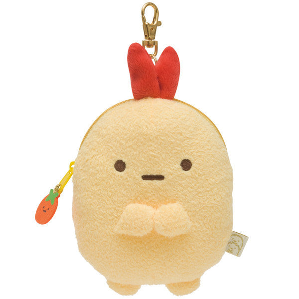 Sumikko Gurashi Tail of Shrimp Fly Plush ID Card Pass Case Pouch San-X Japan