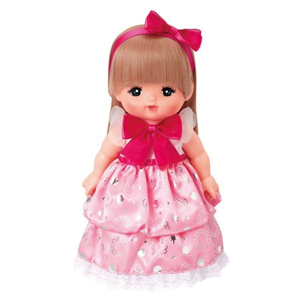 Costume for Mell chan Doll Pink Glitter Kirakira Dress Pilot Japan