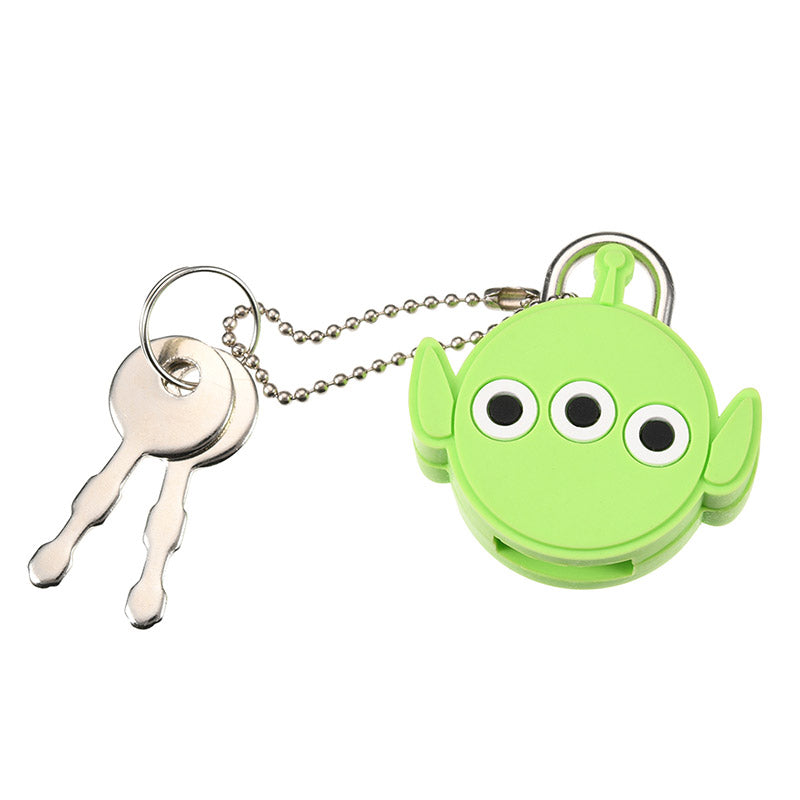 Alien Keychain Key Holder Face Padlock Disney Store Japan Toy Story