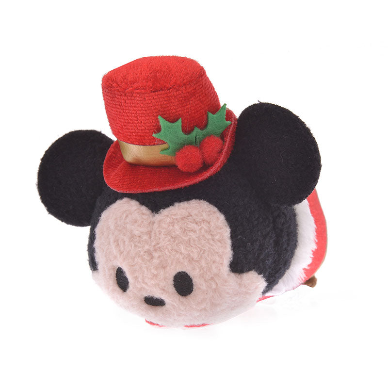 Mickey Tsum Tsum Plush Doll mini S Holly Disney Store Japan Christmas 2019