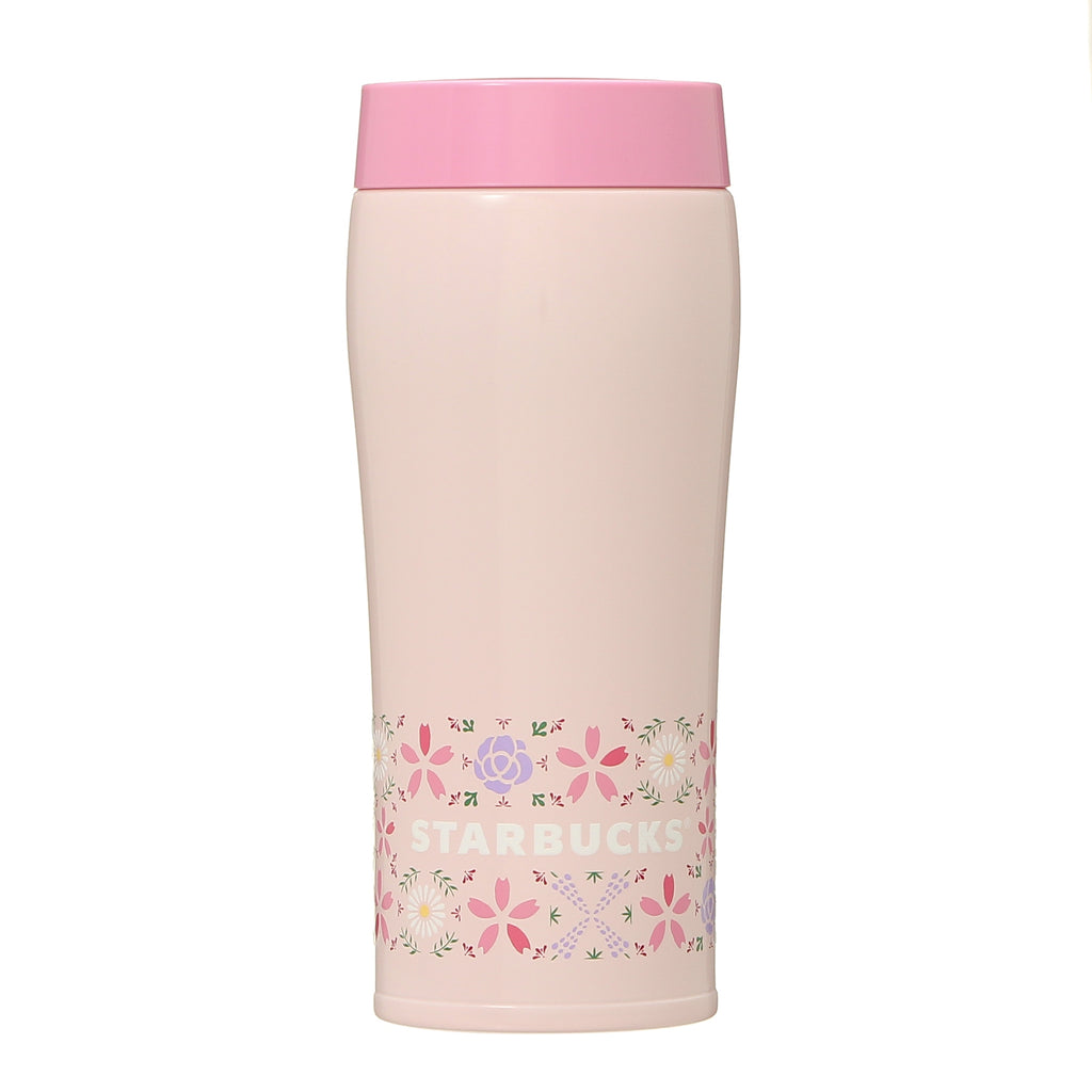 Stainless Bottle Floral Tile 360ml SAKURA 2021 Starbucks Japan Ver. 2