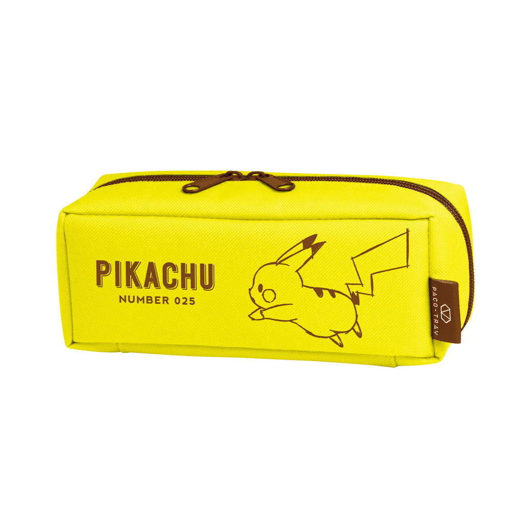 PACO-TRAY Pen Case Pencil Pouch Yellow Pikachu number025 Pokemon Center Japan