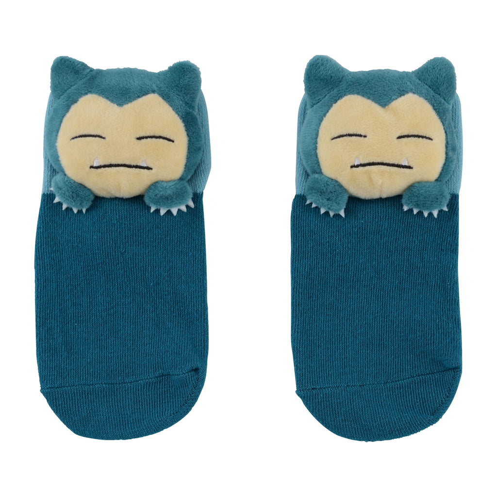 Snorlax Kabigon Short Sock with Plush Mascot Pokemon Center Japan Kids 13-18cm