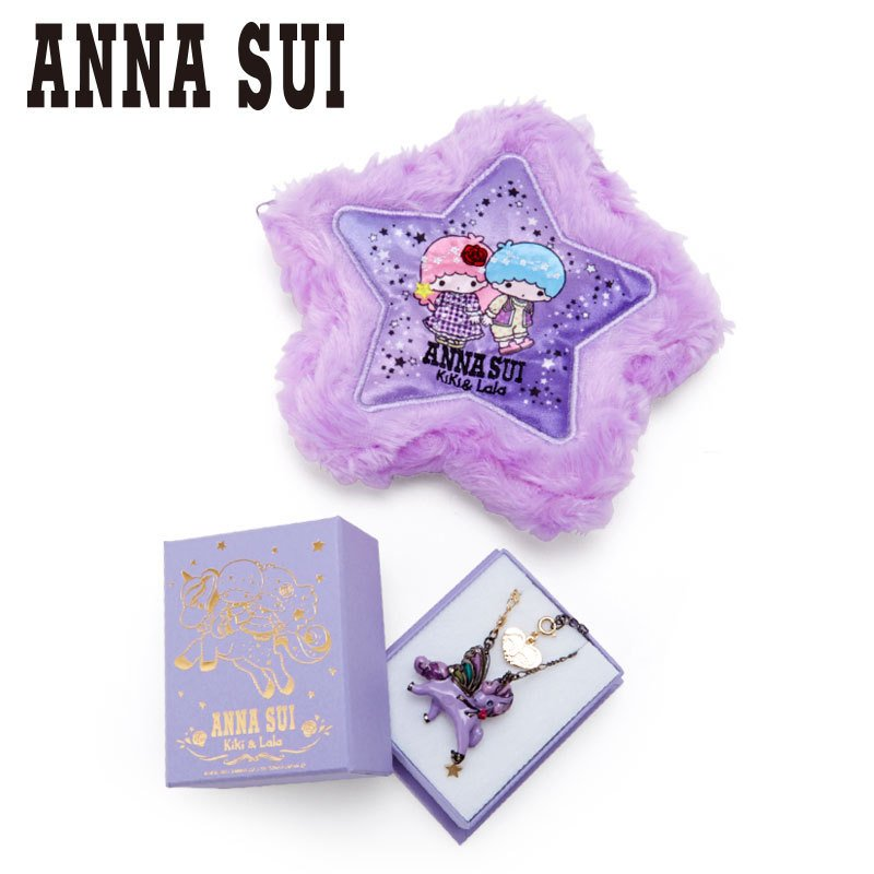 Little Twin Stars Kiki Lala Necklace with Pouch ANNA SUI Sanrio Japan 2021