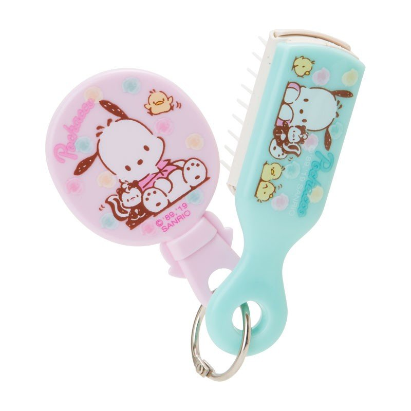 Pochacco Hairbrush with mini Mirror Sanrio Japan