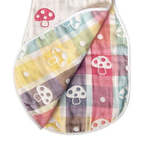 Hoppetta Champignon 6 Double Gauze Sleeper Kids size 7240 Made in Japan Cotton