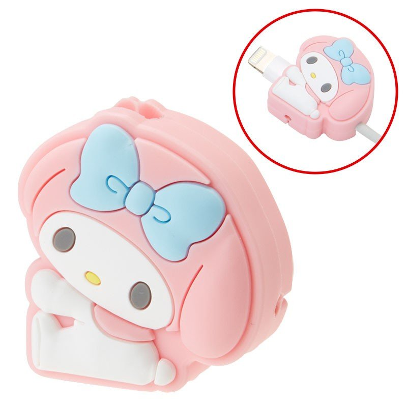 My Melody Cable Protection for iPhone Pink Sanrio Japan Cross type