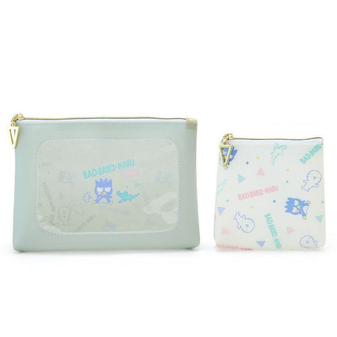 Bad Badtz-Maru Window Pouch Square Case Set Sanrio Japan