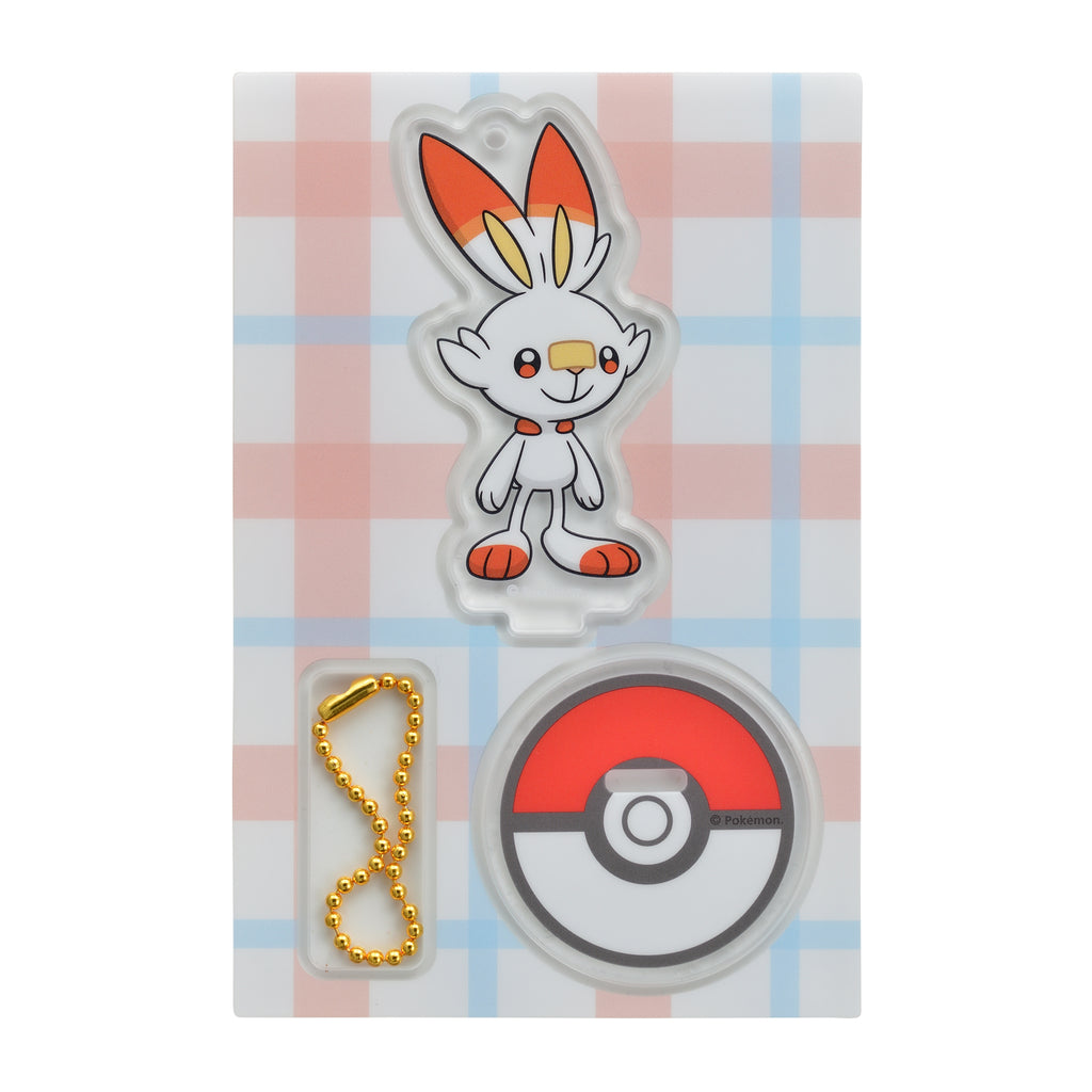Scorbunny Hibanny Acrylic Stand Holder Sword Shield Pokemon Center Japan