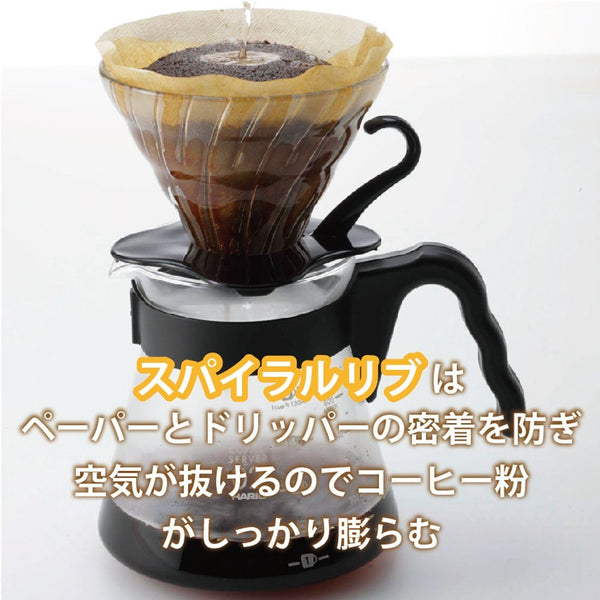 Hario Japan VDG-02R V60 Glass Coffee Dripper Red 1-4 cups