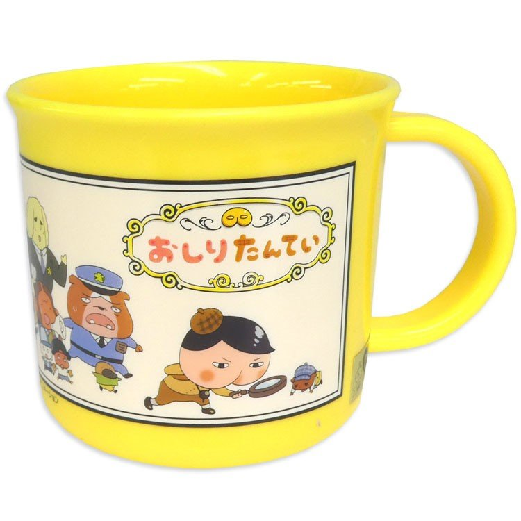 Oshiritantei Butt Detective Plastic Cup 200ml Yellow Japan