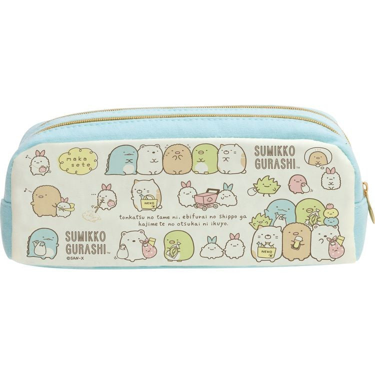 Sumikko Gurashi Twin Zipper Pen Case Fried Shrimp Tail's Errand San-X Japan