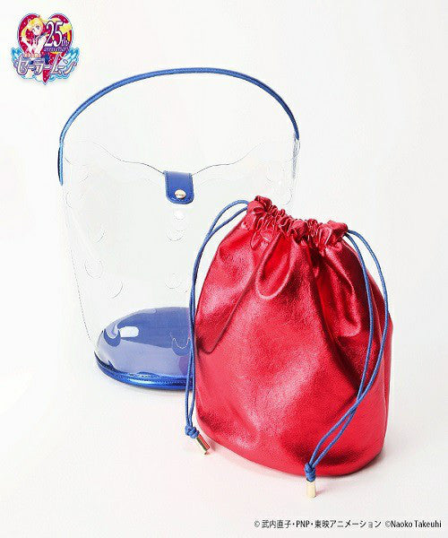 Sailor Moon Clear Bucket Bag Red 25th Anniversary casselini Japan