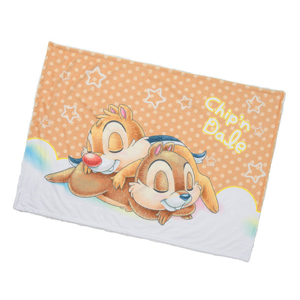Chip & Dale Blanket Suya Suya Sleeping Disney Store Japan