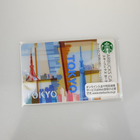Starbucks Gift Card Japan Limited TOKYO w/ sleeve New logo