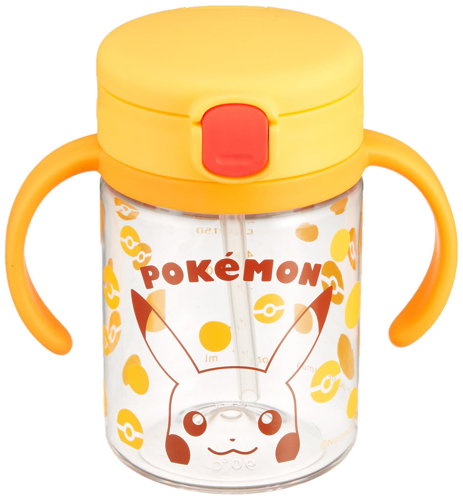 Pikachu My First Pokemon Straw Mug Cup 200ml Richell Baby Japan
