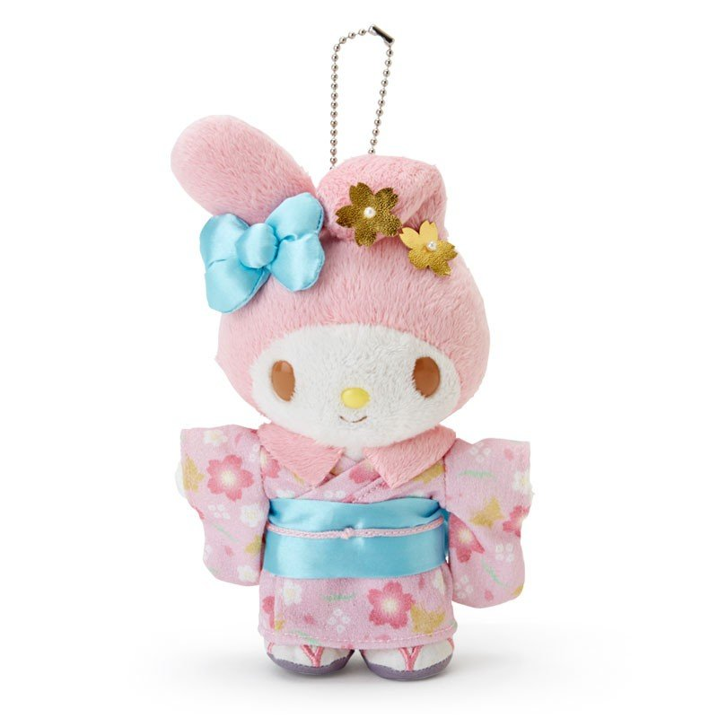 My Melody Plush Mascot Holder Keychain Kimono Sanrio Japan New Year