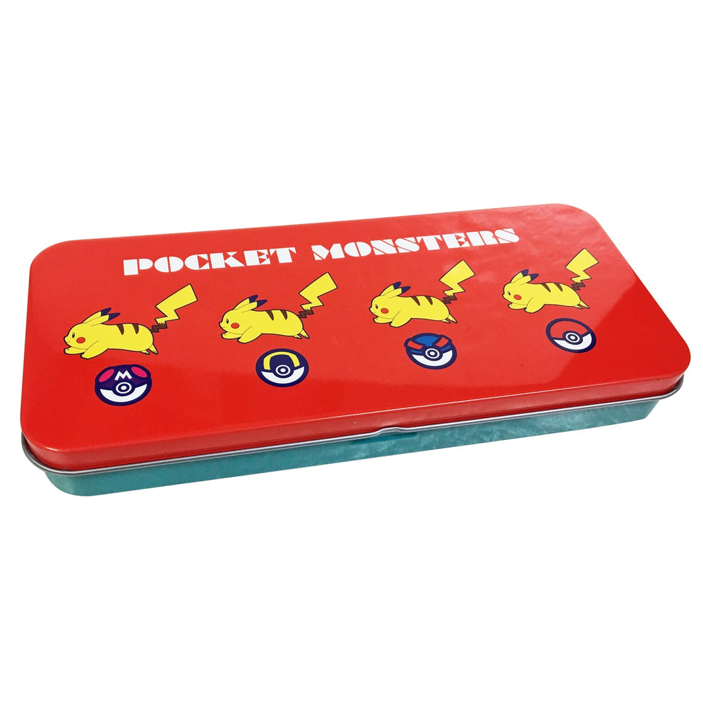 Pikachu & Ball Can Pen Case Pokemon Center Japan Original