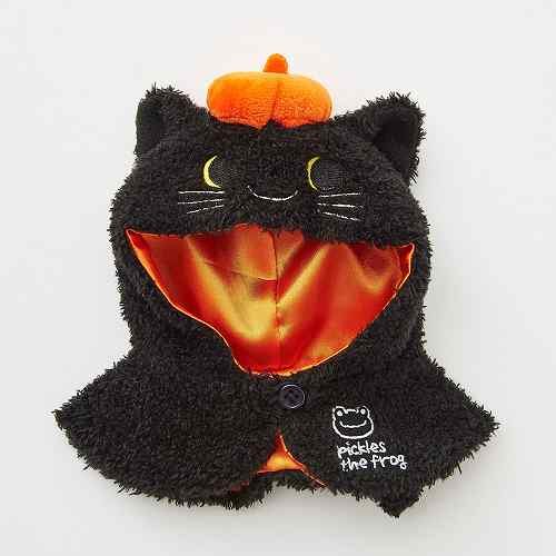 Costume for Bean Doll Plush Black Cat Poncho Pickles the Frog Japan Halloween