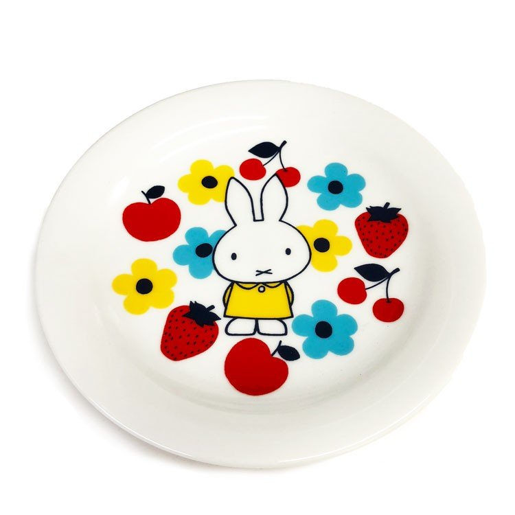 Miffy Ceramic Plate Autumn Fruits White Japan