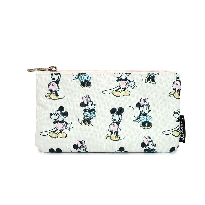 Mickey & Minnie Pouch Pastel Pink Loungefly Disney Store Japan