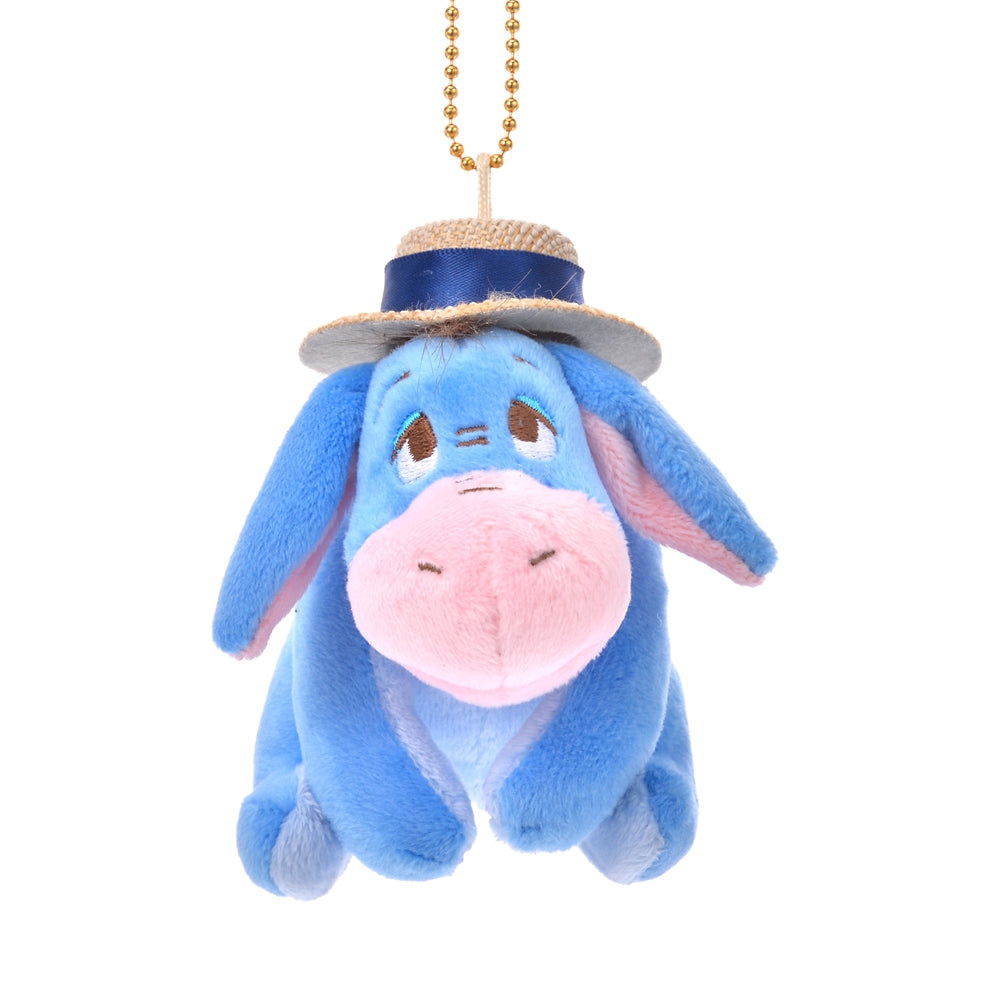 Eeyore Plush Keychain Straw Hat Disney Store Japan 2020 Winnie the Pooh