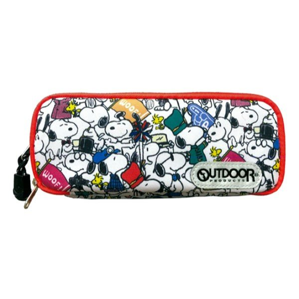 Snoopy OUTDOOR W Room Pen Case Pencil Pouch Pattern PEANUTS Japan