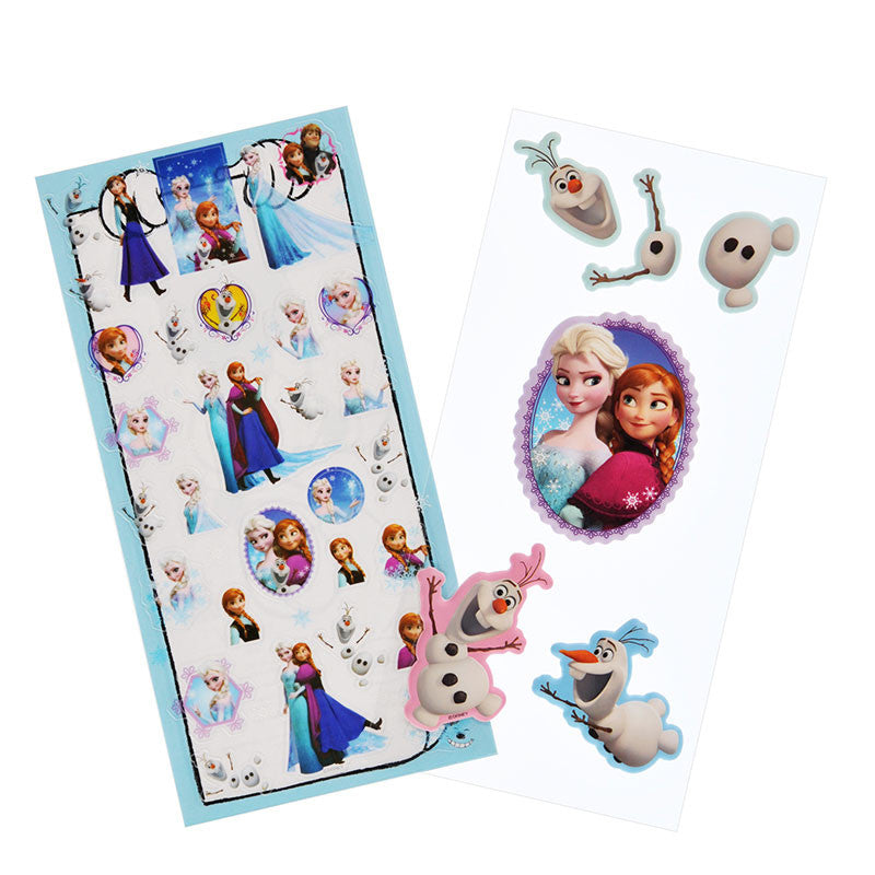 Double Sticker Big Frozen Elsa Anna Olaf Disney Store Japan