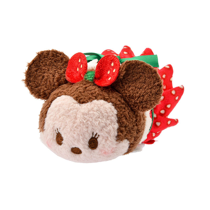 Minnie Tsum Tsum Plush Doll mini S Strawberry Disney Store Japan