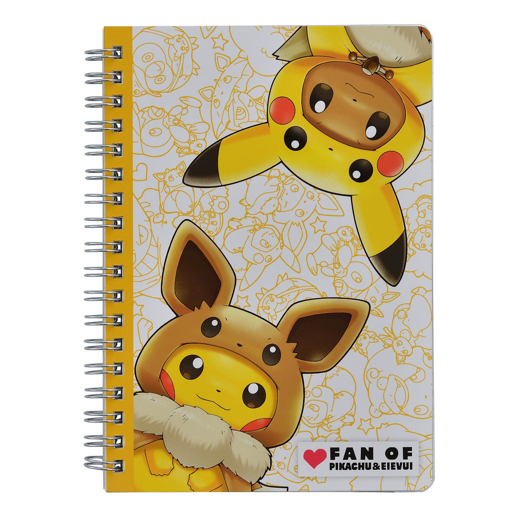 B6 Ring Notebook FAN OF PIKACHU & EIEVUI Japan Pokemon Center