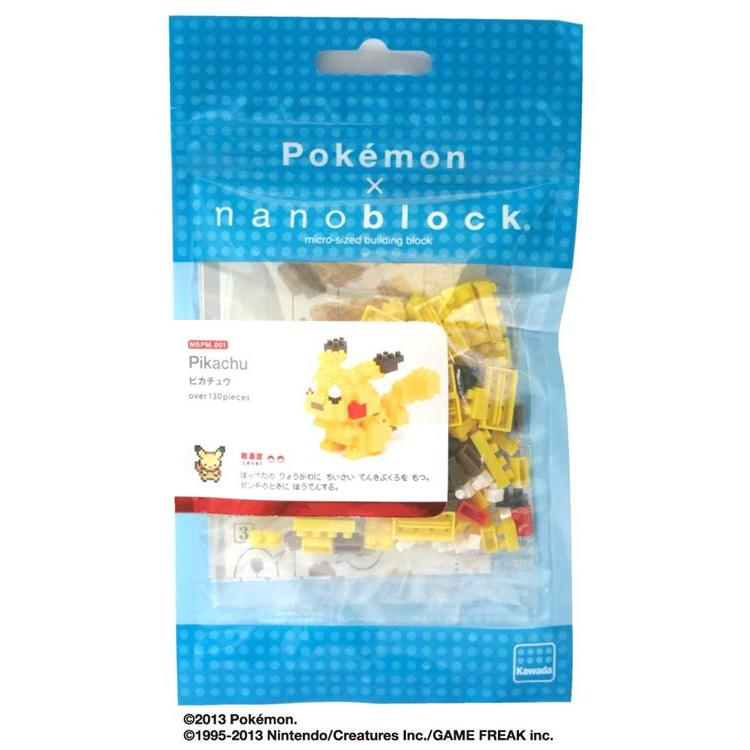 Pikachu Block Building Toy nanoblock Pokemon Japan