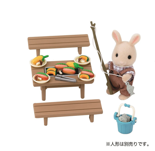 Furniture BBQ Barbecue Set Ka-615 Sylvanian Families Japan Calico Critters