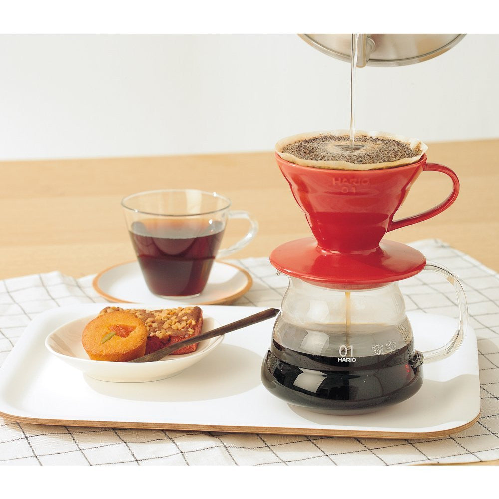 Hario Japan V60 02 Ceramic Coffee Dripper VDC-02R Red