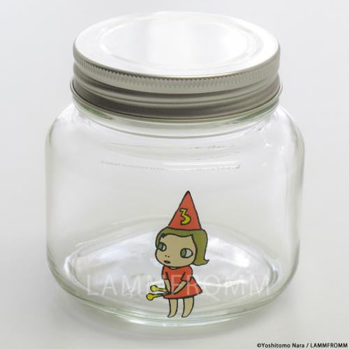 Yoshitomo Nara Glass Storage Jar S Girl 3 Red Japan Art
