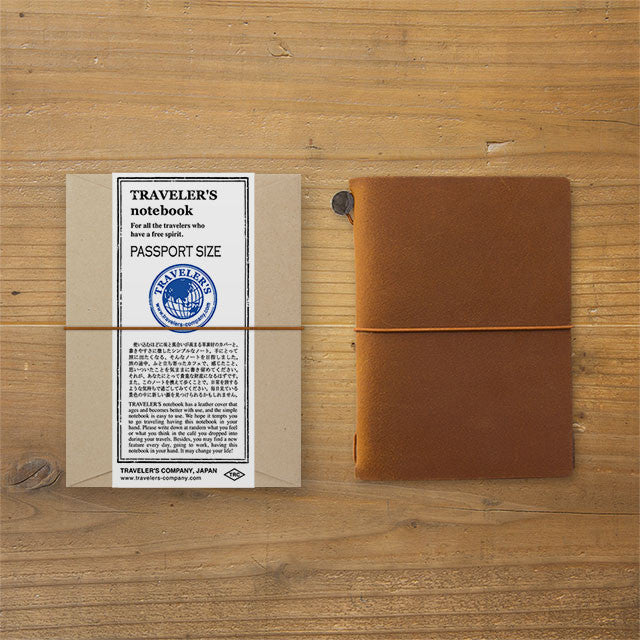 TRAVELER'S Notebook Passport size Camel Leather Cover from Japan 15194006