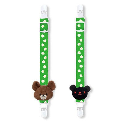 Jackie Chucky Plush Mascot Multi Clip for Bay Car Green the bears' school Japan