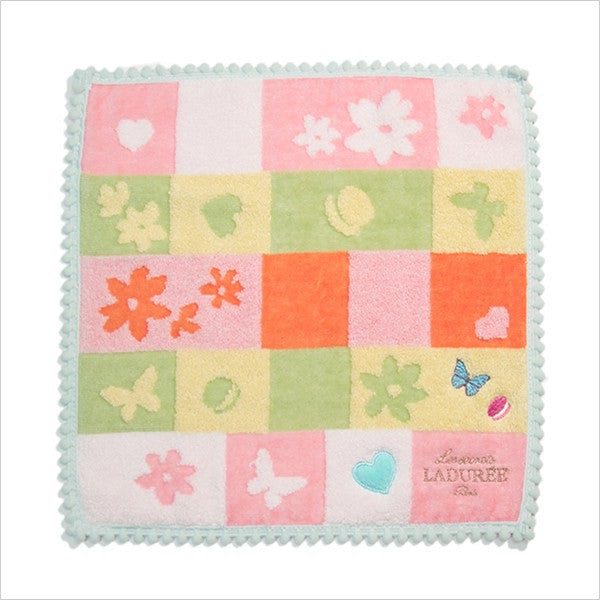 Towel Handkerchief Orange Let's Play Laduree Japan