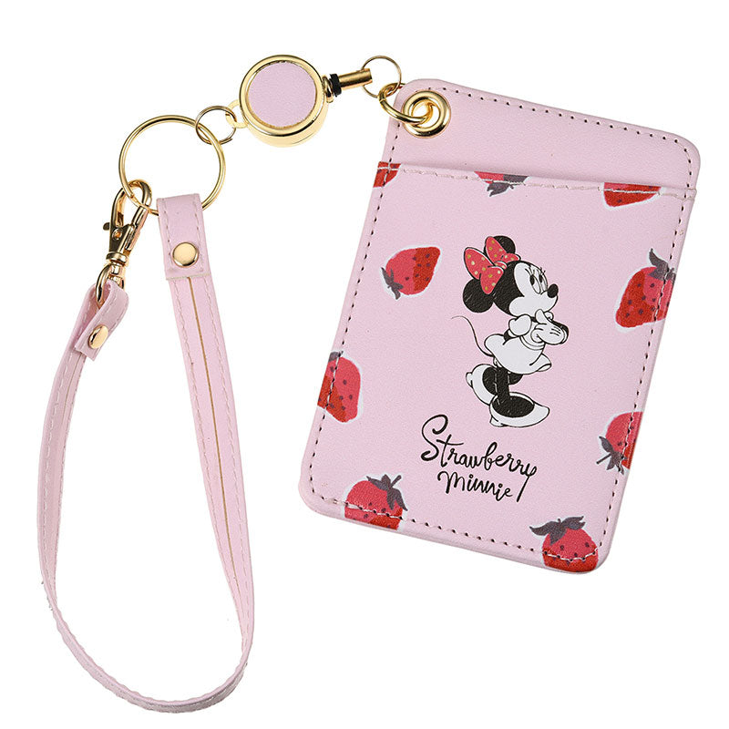 Minnie Pass Case Strawberry Ichigo Lifestyle Disney Store Japan