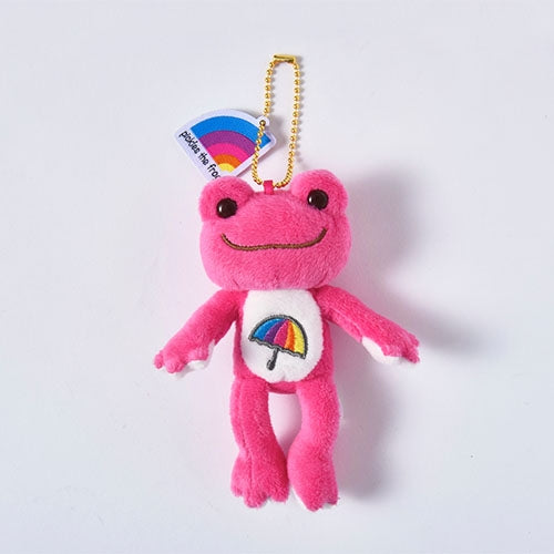 Pickles the Frog Plush Keychain Pink Ametalk! Japan