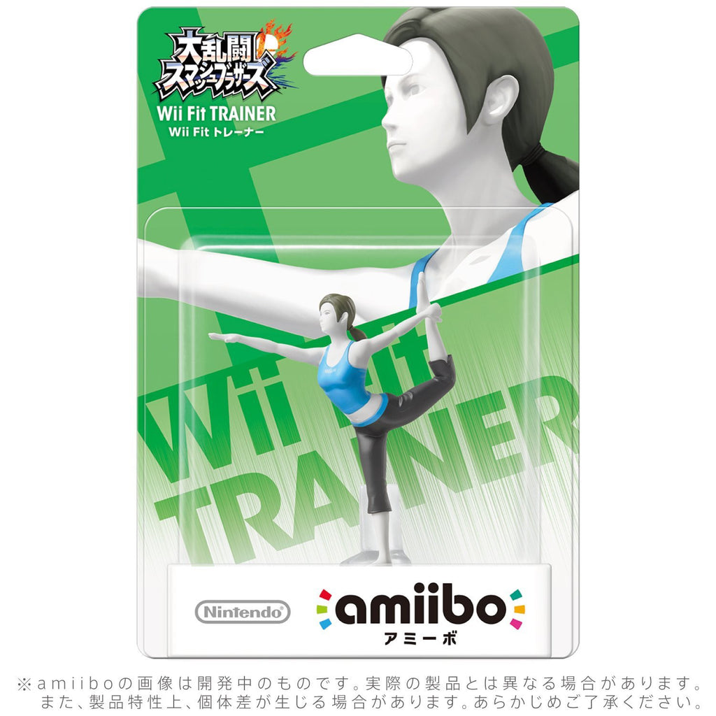 Nintendo amiibo Wii Fit TRAINER Super Smash Bros Series Japan Wii U 3DS Switch