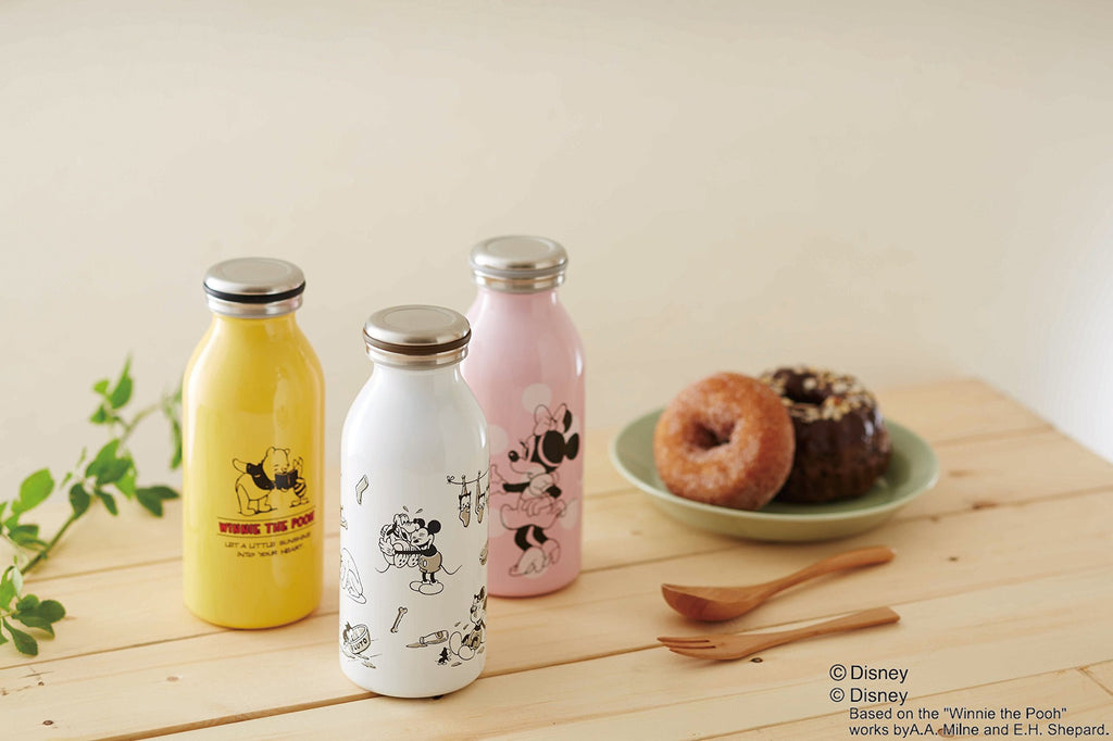 Winnie the Pooh Stainless Screw Mug Bottle 0.35L mosh! Disney Japan
